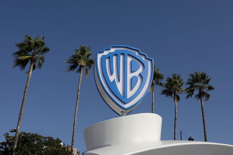 © Reuters. FILE PHOTO: The Warner Bros logo is seen during the annual MIPCOM television programme market in Cannes