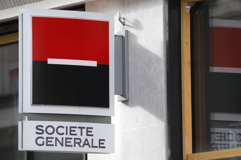 © Reuters. SOCIÉTÉ GÉNÉRALE: LES EXIGENCES DE FONDS PROPRES DE LA BCE INCHANGÉES