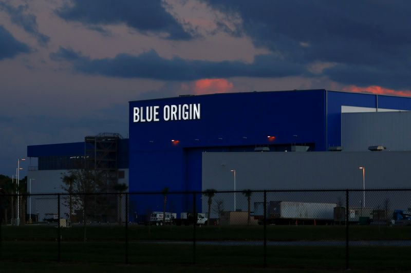 © Reuters. FILE PHOTO: The Blue Origin rocket facility in Cape Canaveral