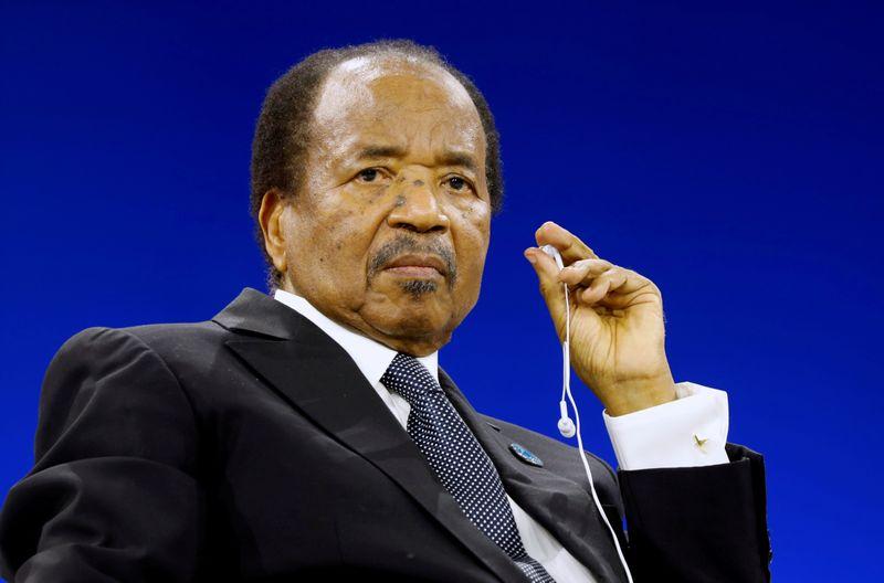 © Reuters. FILE PHOTO: Cameroon President Paul Biya attends the Paris Peace Forum