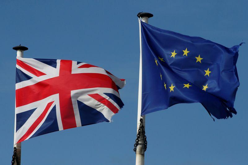 © Reuters. BREXIT: LES CONDITIONS D'UN ACCORD TOUJOURS PAS RÉUNIES, DISENT LONDRES ET BRUXELLES