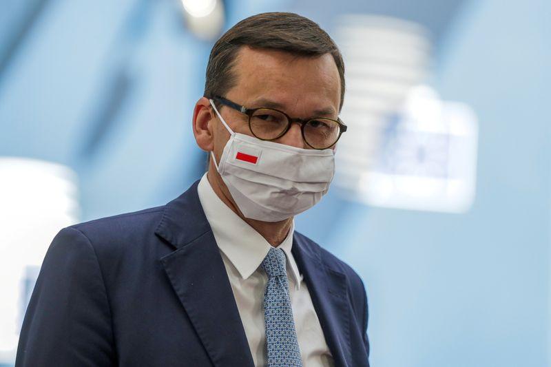 © Reuters. Il primo ministro polacco Mateusz Morawiecki a Bruxelles
