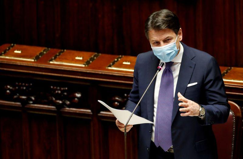© Reuters. Il presidente del Consiglio Giuseppe Conte