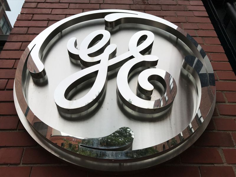 © Reuters. The General Electric Co. logo is seen on the company's corporate headquarters building in Boston