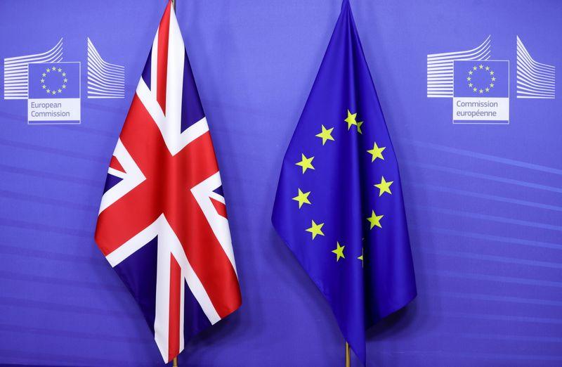 © Reuters. EU Commission President von der Leyen and British PM Johnson meet in Brussels