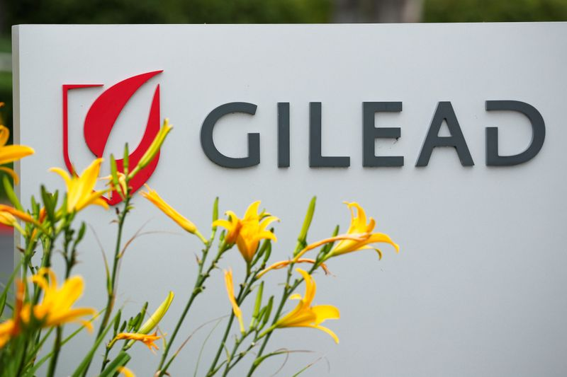 © Reuters. FILE PHOTO: Gilead Sciences Inc pharmaceutical company is seen during the outbreak of the coronavirus disease (COVID-19), in California