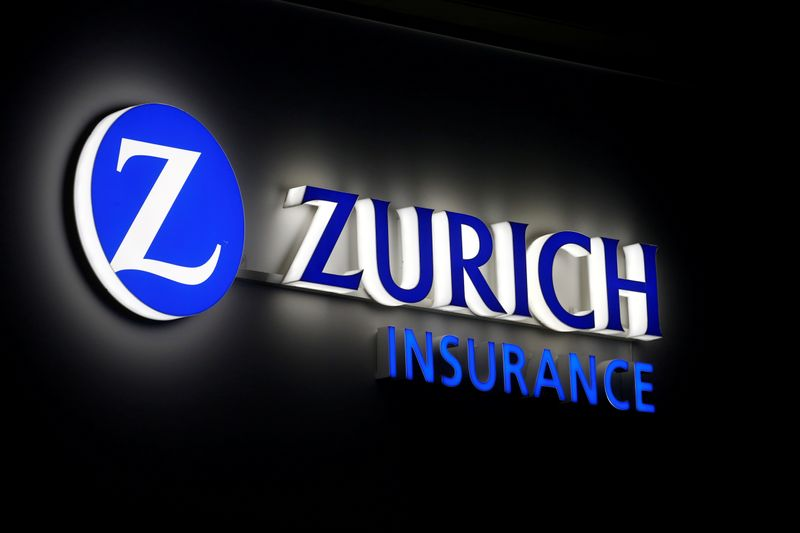 © Reuters. FILE PHOTO: Logo of Zurich Insurance is seen in Davos