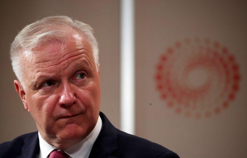 © Reuters. Il governatore della Banca finlandese, Olli Rehn, durante un evento Reuters a Londra