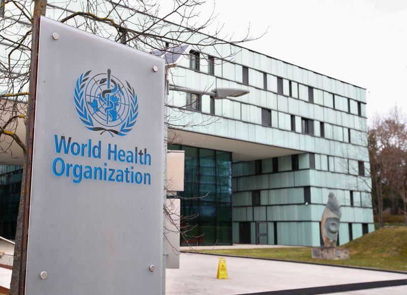 © Reuters. Sede dell'Organizzazione mondiale della sanità a Ginevra,