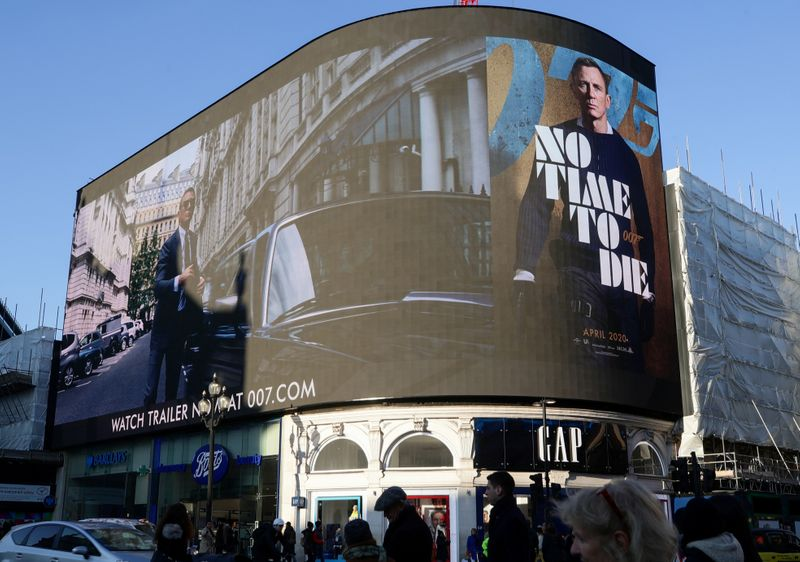 © Reuters. Trailer for a James Bond film