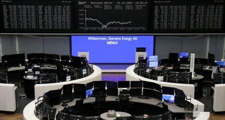European shares rebound as U.S. stimulus overshadows virus worries By Reuters