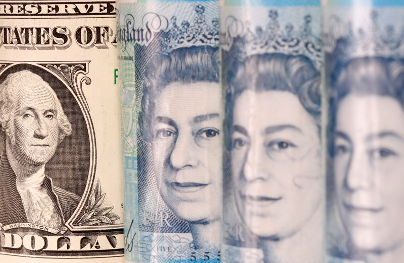 © Reuters. Pound and U.S. dollar banknotes are seen in this illustration