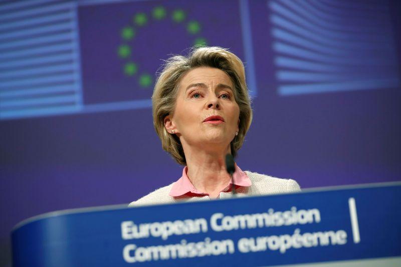 © Reuters. L'UE ET LE ROYAUME-UNI ONT CONCLU UN ACCORD SUR L'APRÈS-BREXIT