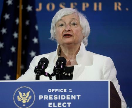 Biden's Treasury nominee Yellen discloses paid speaking gigs for financial firms By Reuters