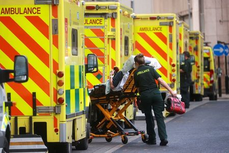 UK reports 57,725 new COVID-19 cases, 445 deaths By Reuters