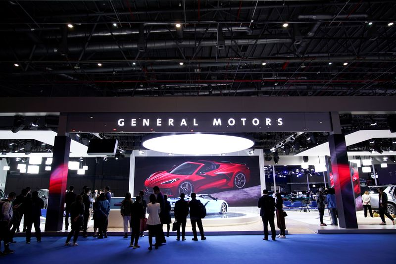 © Reuters. FILE PHOTO: General Motors sign is seen at the third China International Import Expo (CIIE) in Shanghai