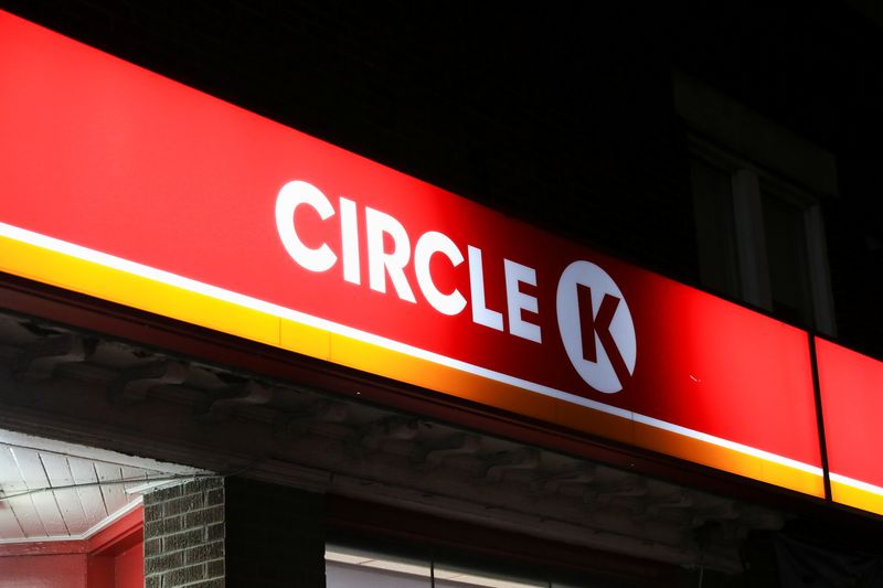 © Reuters. A logo of a Circle K shop is pictured in Toronto