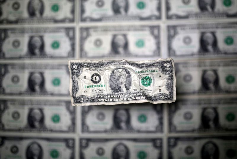 © Reuters. FILE PHOTO: U.S. dollar banknote is seen in this picture illustration