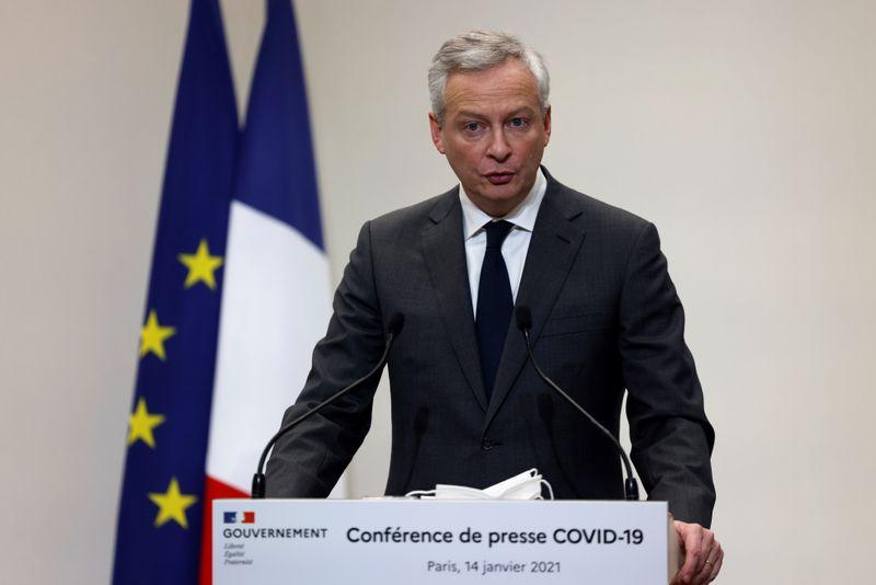 © Reuters. FRANCE: LE REMBOURSEMENT DES PGE POURRA ÊTRE DIFFÉRÉ D'UN AN, ANNONCE LE MAIRE