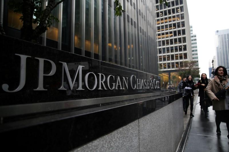© Reuters. أرباح جيه.بي مورجان تقفز بفعل تعزز التداول والاستثمار المصرفي