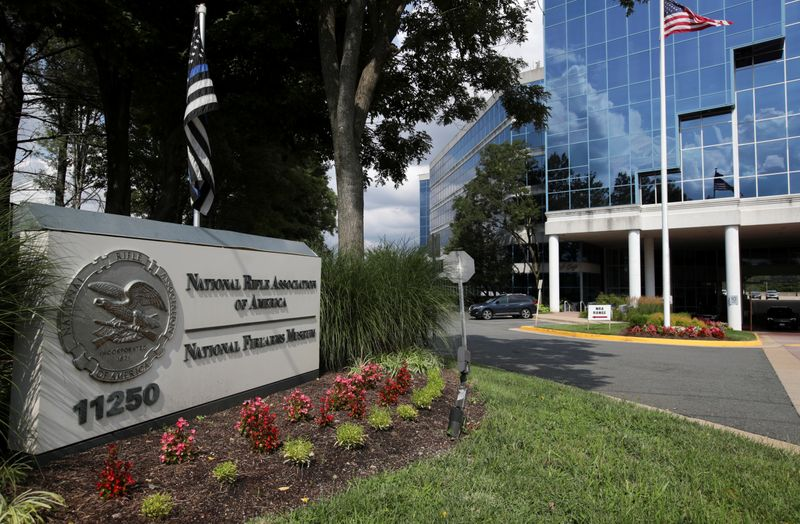 © Reuters. FILE PHOTO:  A general view shows the National Rifle Association (NRA) headquarters, in Fairfax