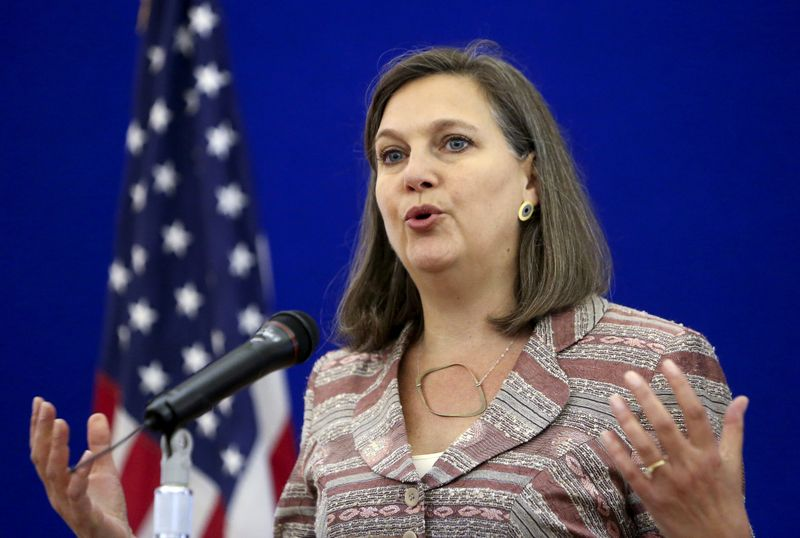 © Reuters. FILE PHOTO: U.S. Assistant Secretary of State for European and Eurasian Affairs Nuland attends a news conference in Moscow