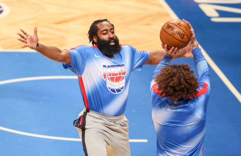 Durant hails Harden for triple-double on Nets debut
