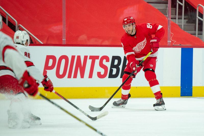 © Reuters. NHL: Carolina Hurricanes at Detroit Red Wings