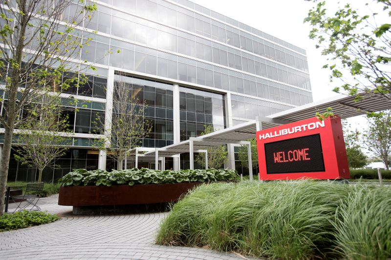 © Reuters. FILE PHOTO: Halliburton's campus in Houston, Texas