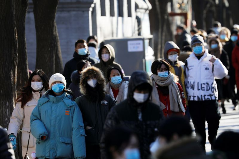© Reuters. FILE PHOTO: Outbreak of the coronavirus disease (COVID-19), in Beijing