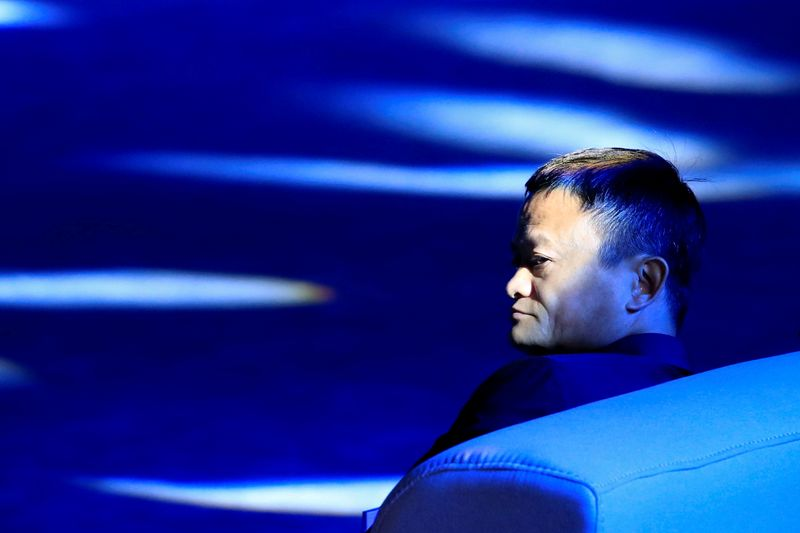 © Reuters. FILE PHOTO: Alibaba Group's Jack Ma attends the WAIC in Shanghai