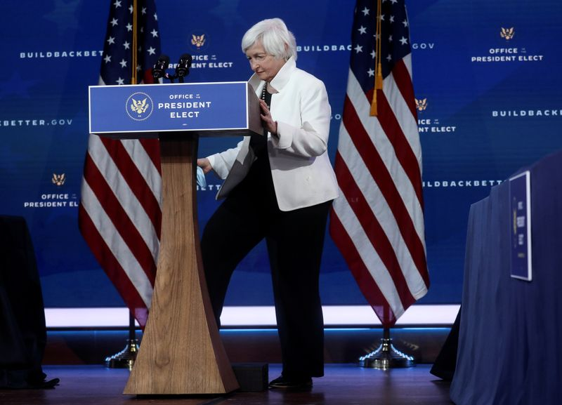 Domestic investment needed before new trade deals: U.S. Treasury pick Yellen