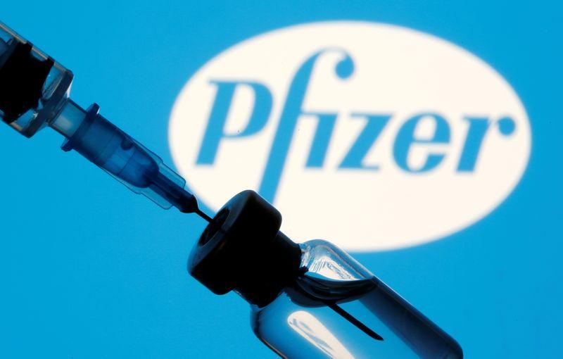 © Reuters. Logo da Pfizer