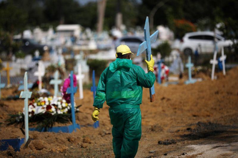 © Reuters. Brasil registra 1.202 novas mortes por Covid-19