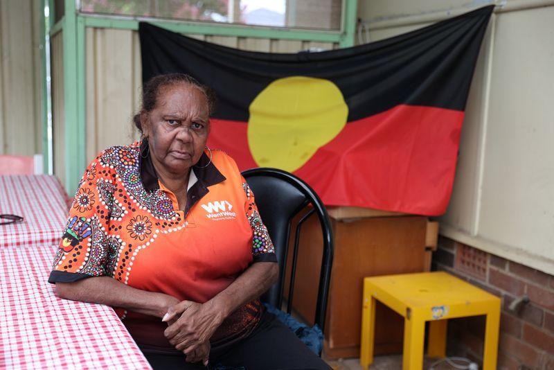 © Reuters. Indigenous Muruwari elder Rita Wright is seen at her home in Sydney