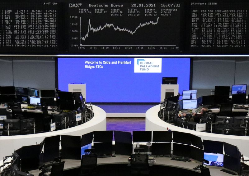 European shares rebound on gains in chemical, financial sectors