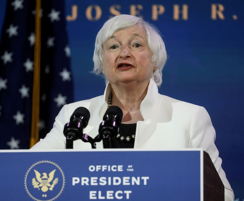 Yellen pledges U.S. Treasury cooperation with UK, Germany on pandemic, climate, taxes