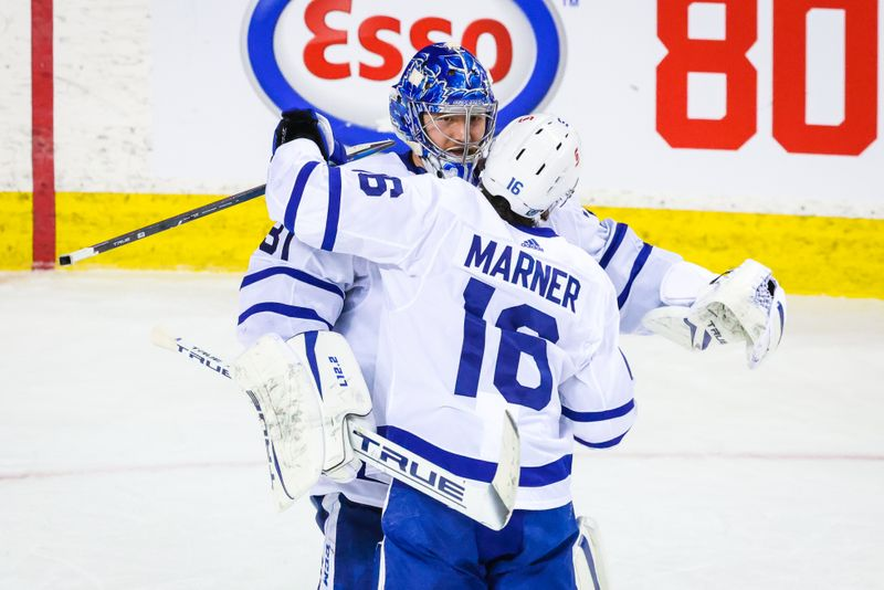 © Reuters. NHL: Toronto Maple Leafs at Calgary Flames