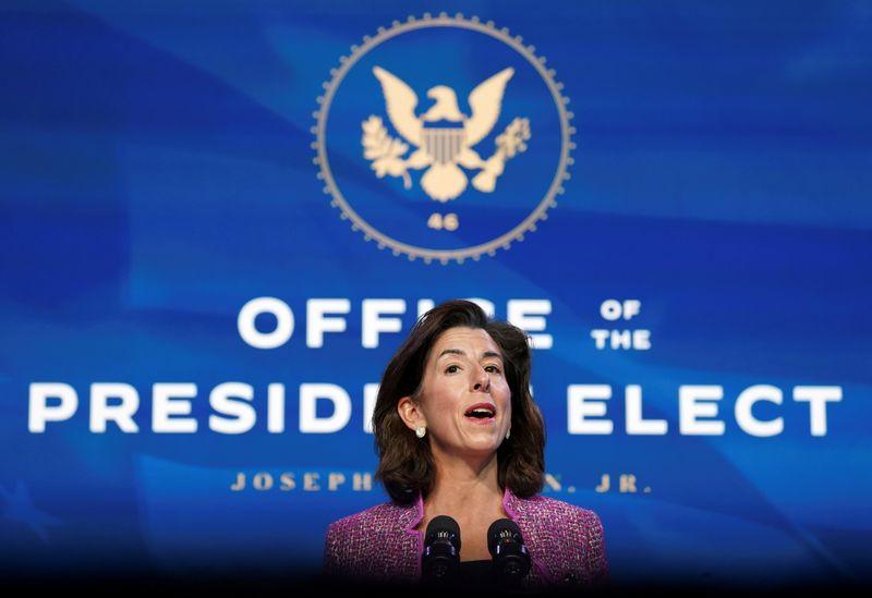 Republican lawmakers press Biden Commerce nominee on Huawei stance