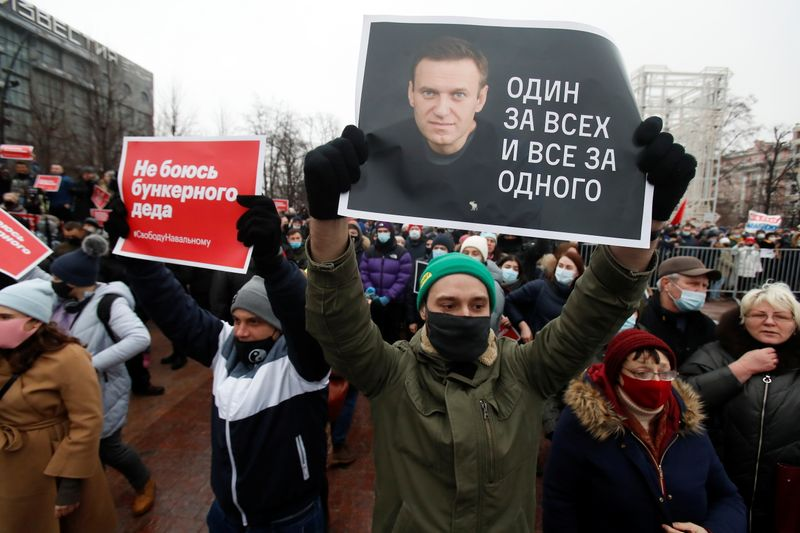 Russia detains more than 5,000 at protests backing jailed Kremlin critic Navalny