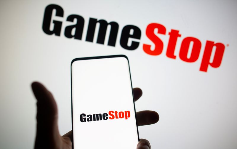 © Reuters. FILE PHOTO: GameStop logo is seen in this illustration