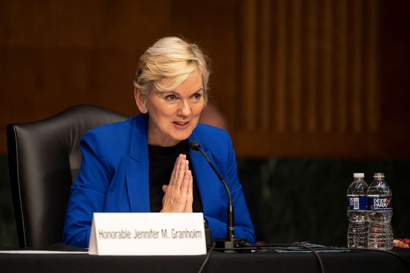 © Reuters. Former Michigan Governor Jennifer Granholm testifies before the Senate Energy and Natural Resources Committee in Washington