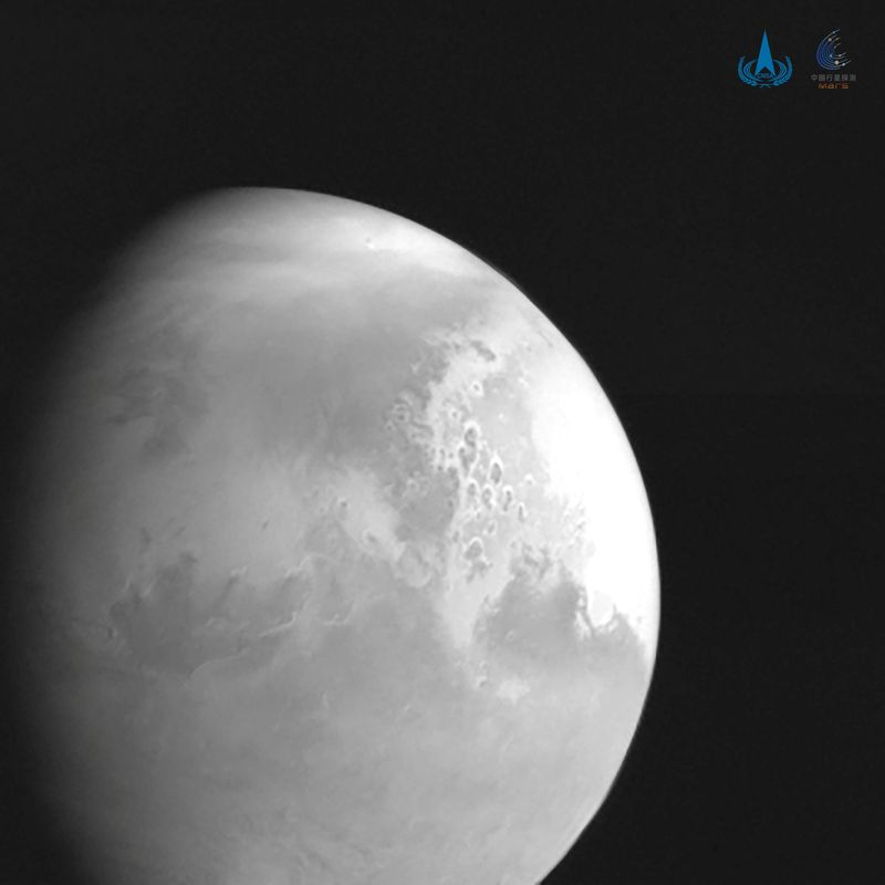 Mars ready for its close-up: China releases space probe's first image