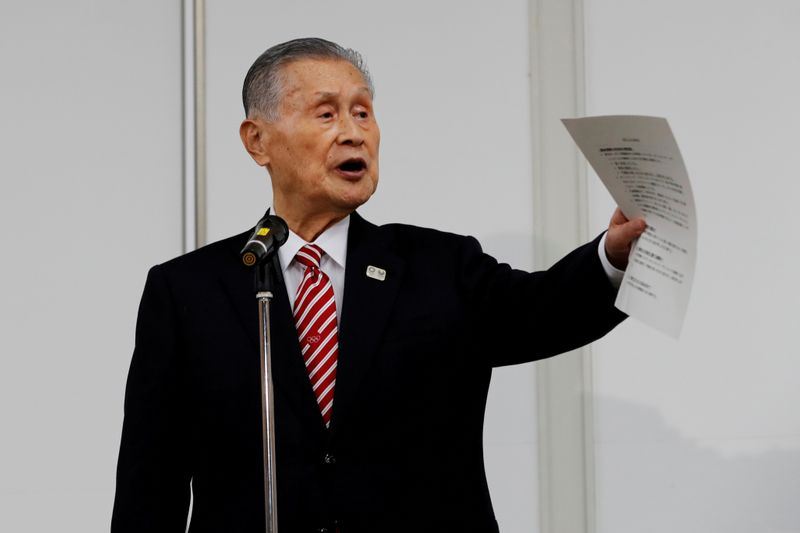 Olympics: Nearly 60% of Japanese think Mori unfit for role as Tokyo 2020 chief - poll