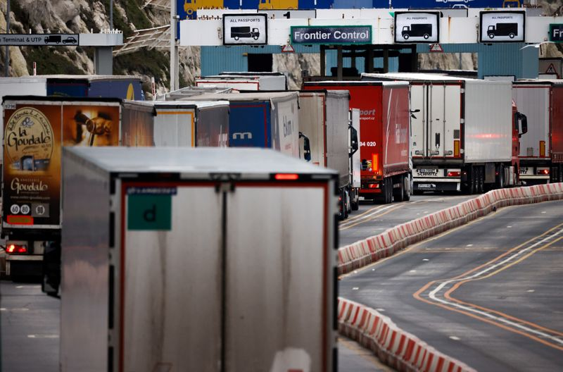 <p>Exports from UK to EU down 68% since Brexit trade deal, State hauliers thumbnail