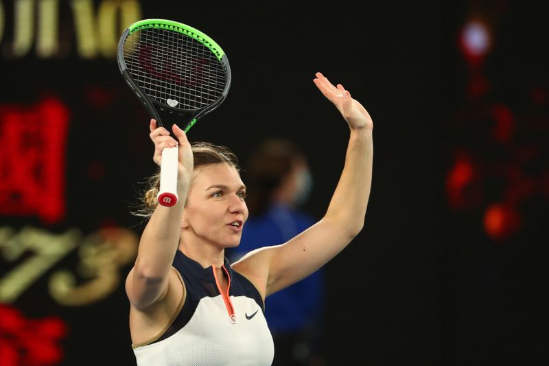 Halep hot-foots it into last 16 at Melbourne Park