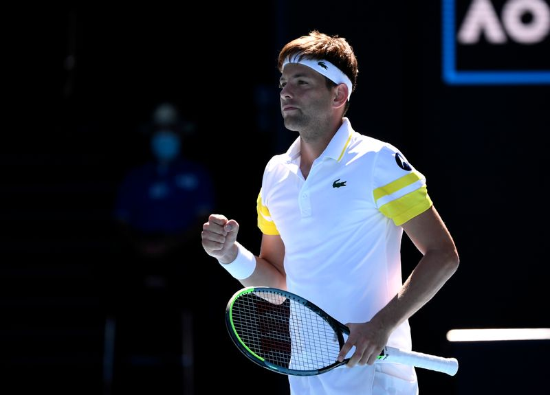 Tennis: Medvedev wins five-setter to join Russian charge