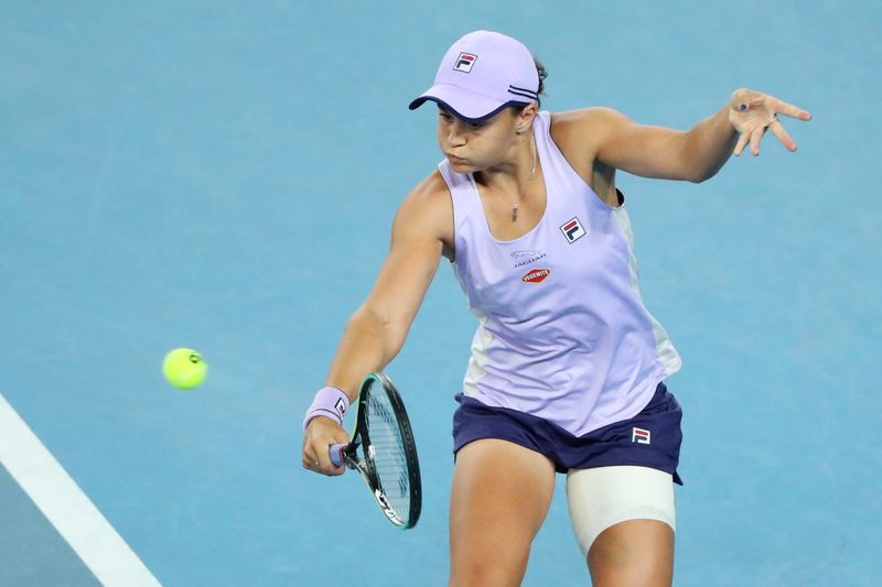 Barty bounces into fourth round in empty arena