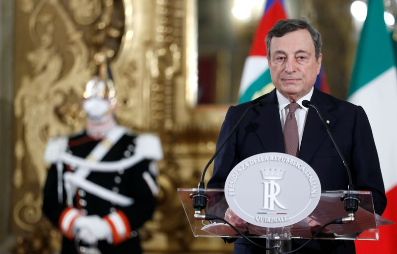 Italy's Draghi sworn in as prime minister of unity government