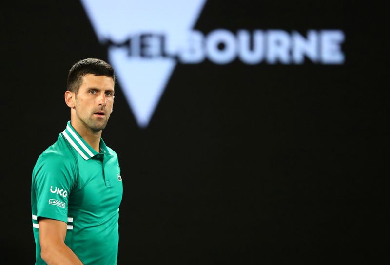 Injured Djokovic's Australian Open record bid hangs in balance